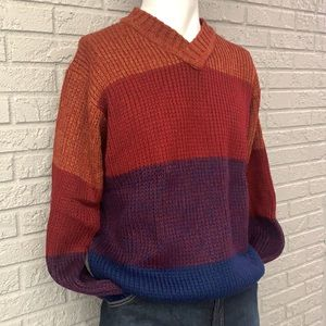 PENDLETON Stripped Color Block Sweater Size XL NWT